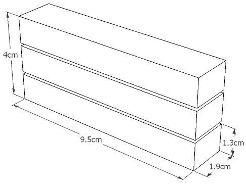 11.1v 1300mAh 25C LiPo Crane Stock Battery Dimensions