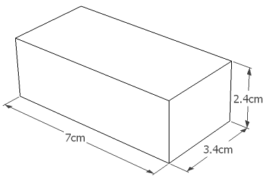 11.1v 1300mAh 35C LiPo PEQ Battery Dimensions